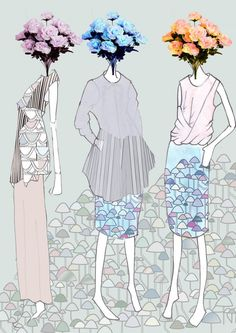 Modeconnect.com - fashion illustration Chloe Line Up