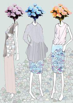 Modeconnect.com - fashion illustration Chloe Line Up