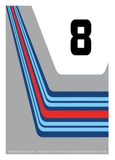 Minimalist Racing Livery Posters on Behance Porsche 911 Rsr, Martini Racing, Racing Stripes, Minimalist Poster, Poster On, Camper Van, Art Cars, Creative Design, Logo Design