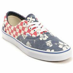 Vans Era Van Doren Aloha   Checker Canvas Skate Shoes 8f6272131a6fa