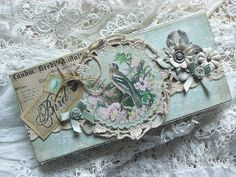 an altered box. Shabby Chic Inspired: sewing