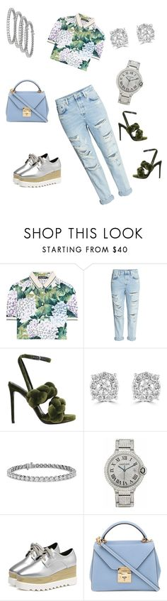 """Untitled #65"" by mckaystyles ❤ liked on Polyvore featuring Dolce&Gabbana, H&M, Marco de Vincenzo, Effy Jewelry, Blue Nile, Cartier and Mark Cross"