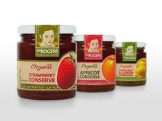Mrs Rogers organic conserves packaging