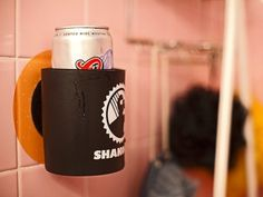 Umm.. A shower beer koozie. I think this is the greatest invention ever. Who doesn't love drinking a cold beer in the shower? I need one ASAP!   xo, Samantha