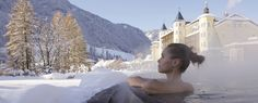 #Baths are good for blood circulation and skin, but also for your soul: after a bath you will feel beautiful and relaxed. You only need to choose which type you prefer, and then you can enjoy a #wellness bath in a simple tub or in a whirlpool if you like. Photo: Ingrid Heiss  (Adler Dolomiti Spa & Sport Resort) #Dolomiti #Dolomites