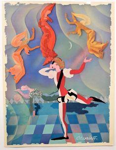 La Belle au Bois Dormant. par ALEXEIEFF. Art Deco Print, Painting, Sleeping Beauty, Painting Art, Paintings, Painted Canvas, Drawings