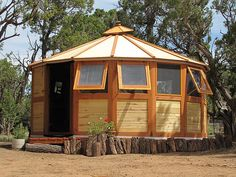 Turtleback portable wooden yurts!!!