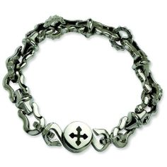 Stainless Steel Polished Magnetic Clasp 8.5in Bracelet. Metal Wt- 43.25g. Jewelrypot. $43.99. Fabulous Promotions and Discounts!. 100% Satisfaction Guarantee. Questions? Call 866-923-4446. 30 Day Money Back Guarantee. Your item will be shipped the same or next weekday!. All Genuine Diamonds, Gemstones, Materials, and Precious Metals