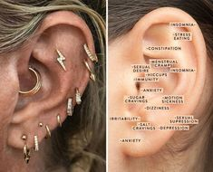 Are Your Trendy Ear Piercings Helping You On A Wellness Level? Are Your Trendy Ear Piercings Helping Or Hurting You On A Wellness Level? – The Chalkboard Related posts:Catori Ear Cuff Creolen Piercings Set. Ear Piercings Chart, Cool Ear Piercings, Ear Peircings, Types Of Ear Piercings, Ear Piercing Places, Ear Piercing For Migraines, Tongue Piercings, Daith Piercing, Piercing Tattoo