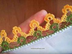 Örgü Örnekleri | Örgüyap.com - Part 76 Crochet Borders, Crochet Stitches, Bead Crochet, Crochet Earrings, Baby Knitting Patterns, Crochet Patterns, Diy Arts And Crafts, Crochet Projects, Free Pattern