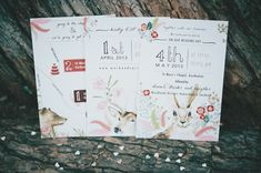 absolutely love these invitations with the animals on them <3