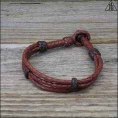 12 Strand Split Braid Leather Bracelet