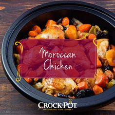 This slow cooker recipe uses chickpeas, green olives, and Turkish apricots to make your chicken dinner anything but boring. Slow Cooker Recipes, Crockpot Recipes, Chicken Recipes, Apricot Chicken, Moroccan Chicken, Slow Cooker Chicken, Chickpeas, Lunches And Dinners, Recipe Using