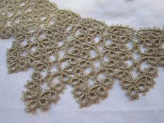 vintage TATTED lace collar and cuffs - oatmeal - fine. $22.95, via Etsy.
