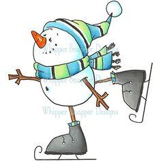 Pupazzo di neve Skater