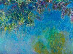 MU_MN2074 _ t_Monet _ Wisteria / Cuadro Arte Famoso, Glicinas