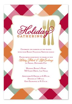 holiday potluck by invitation consultants