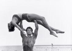 Herb Ritts: Sylvester Stallone and Brigitte Nielsen, Long Island, 1987