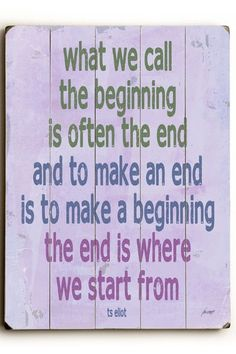 Make A New Beginning Wood Wall Plaque