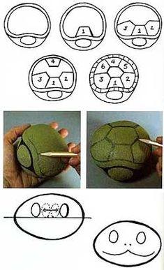 tortugas pintadas en piedras - Buscar con Google