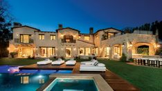 This newly constructed 12,000-square-foot Tuscan villa house in Huntington Palisades has seven bedrooms and nine bathrooms, as well as a movie theater, gym and wine cellar. It was sold for the highest price per square foot in Pacific Palisades in 2012.