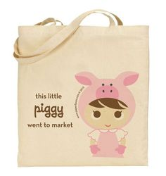 This piggy went to the market bag