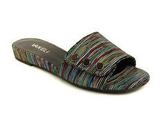 Super cute and casual Vaneli slide sandal on a rubber bottom.