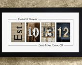 PERSONALIZED WALL DECOR - Frame Your Date, Wedding Gift, Anniversary Gift Idea. $29.95, via Etsy.