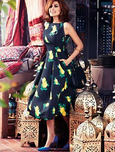 Shop Eva Mendes Collection - Felicity Dress - Lemon Print. Find your perfect size online at the best price at New York & Company.