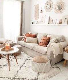 boho living room decor on a budget ; boho living room decor bohemian homes ; Boho Living Room, Cozy Living Rooms, Living Room Colors, Living Room Designs, Living Room Decor, Bedroom Decor, Sitting Rooms, Bohemian Living, Living Room With Carpet