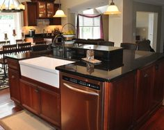 Black Granite Kitchen Countertops my dream kitchenblack granite countertops with cherry wood