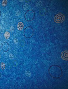 雲母唐長(KIRA KARACHO)の唐紙師・トトアキヒコによるアート作品『イロトリドリの世界』