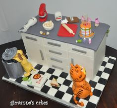giovanna's cakes: Garfield themed cake and cakepops