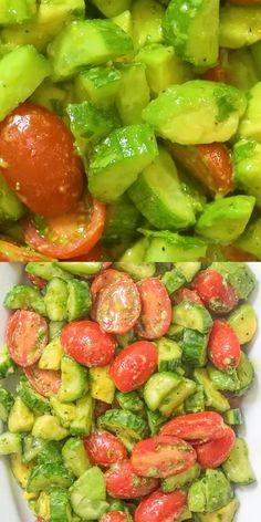 Vegan Keto Diet, Keto Meal, Low Carb Recipes, Cooking Recipes, Cucumber Avocado Salad, Avocado Salad Recipes, Healthy Snacks, Stay Healthy, Summer Salad