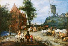 Jan Bruegel Starszy Wiejska ulica
