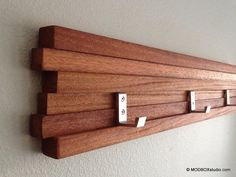 Coat Rack 5 Hook Modern Key Hat Minimalist Wall Hanging by MODBOX,