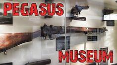 Pegasus Bridge museum in Normandy. The Memorial Pegasus is dedicated to the men of British Airborne Division.