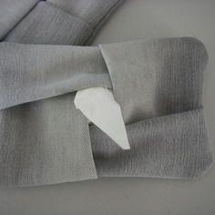 Etui à mouchoirs en papier en jeans gris  recyclé - pochette kleenex - pliage origami - 100% recyclage
