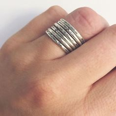 Wear them alone or stack them up, you can't go wrong with the hammered stacking…