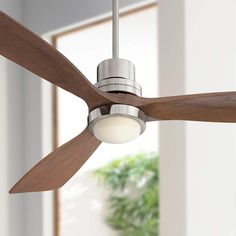 "52"" Casa Delta-Wing Brushed Nickel LED Ceiling Fan - #9C733 | Lamps Plus"