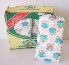 Vintage 80s Cabbage Patch Kids Doll Diapers Box of 6 Coleco 1984.