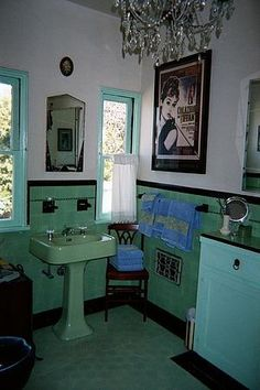 Bathroom, Art Deco Bathroom Style : great art deco bathroom. I ...