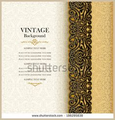 Vintage background, antique invitation card, royal greeting with lace and floral ornament, beautiful, luxury postcard, ornate page cover, ornamental pattern template, elegant  layout for design