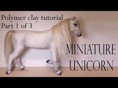 Polymer Clay Horse / Unicorn Tutorial Pt. 1 - (Head) - YouTube