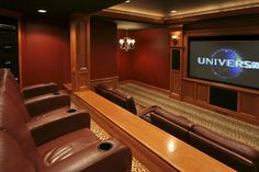 Custom home theater room.