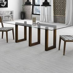 This Dining Room or Conference Table has a Glass Top, Solid Wood Maze Base, Designed Dining Room Table uniquely crafted with a timeless look (chairs are not included). Dinning Table Design, Glass Dining Room Table, Solid Wood Dining Table, Glass Dining Table Rectangular, Dining Tables, Glass Wood Table, Glass Tables, Wood Table Design, Table Bases