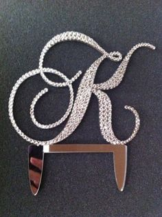 Monogram wedding cake topper covered in by CrystalCelebration, $65.00