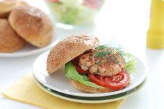 Receta fácil de hamburguesa de salmón casera