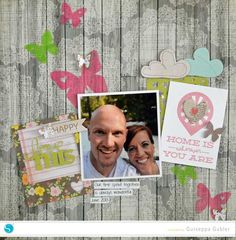 love this double sided adhesive scrapbook layout made with the Silhouette
