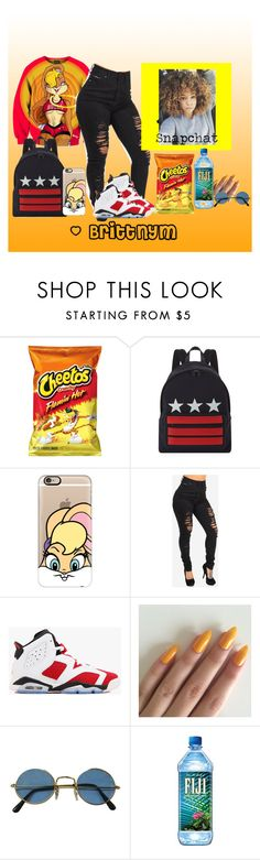 """""""Brittnym Red+Yellow"""" by brittnym ❤ liked on Polyvore featuring Givenchy, Casetify and NIKE"""
